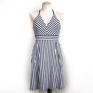 NWT Soprano Candy Stripe Low Back Dress Size Small